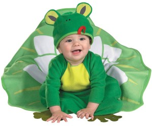 baby froggy lily pad halloween costume