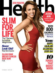 Health Magazine cover with Jessica Alba