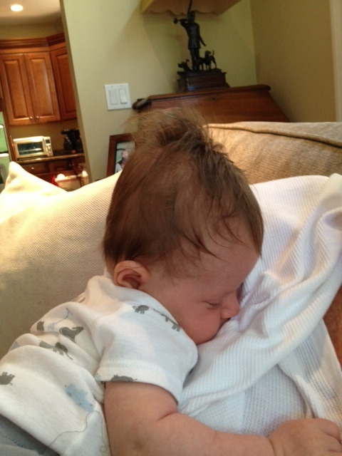 3 month old picture of Will's head