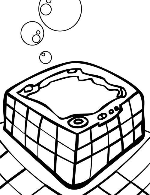 Hot tub cartoon picture