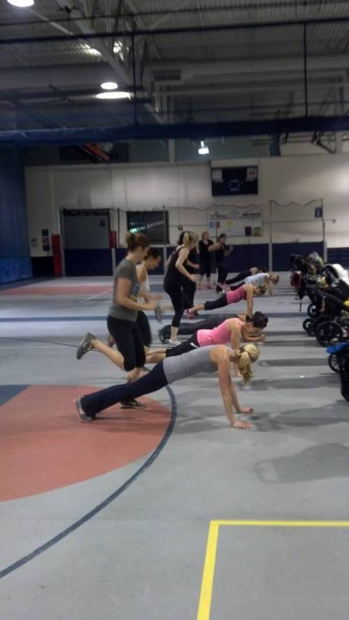 Stroller Barre at the Windy City Field House