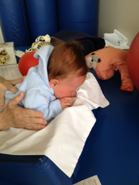 Tummy time at physical therapy