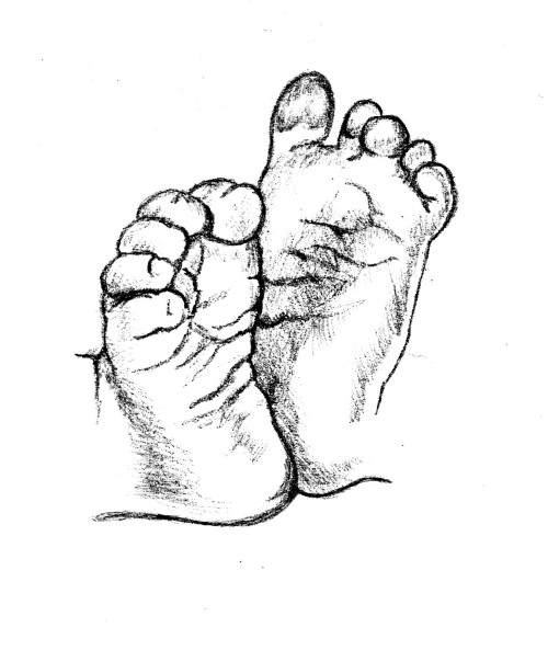 baby feet drawing