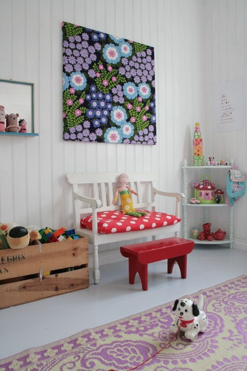 white bench for kids