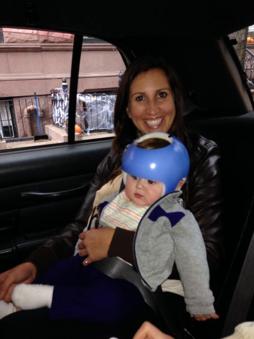 Riding in a NYC cab with a baby