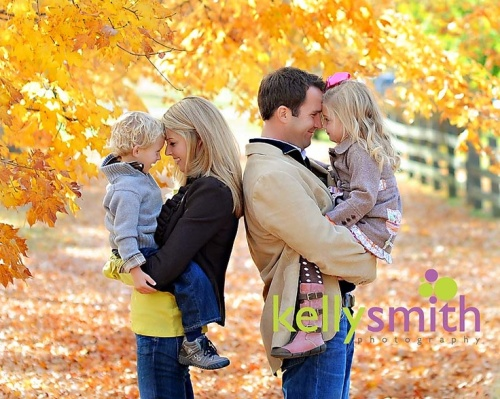 Christmas card with fall colors