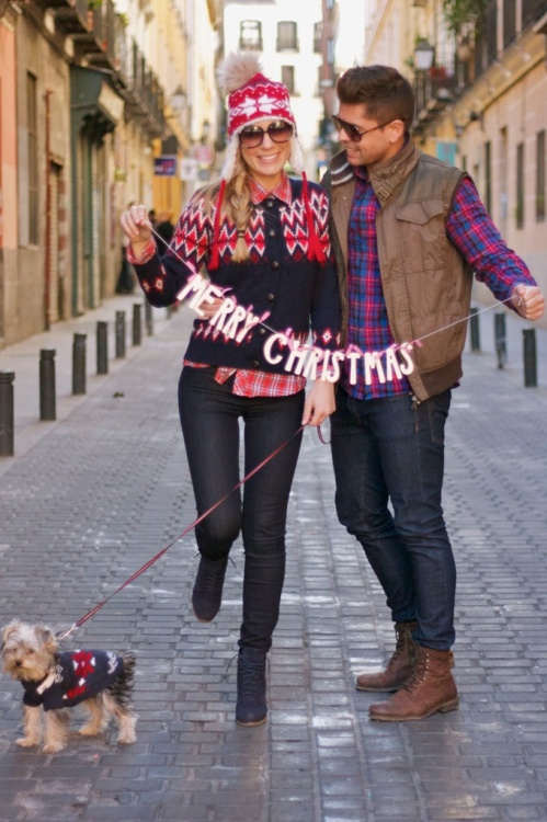 couples christmas card