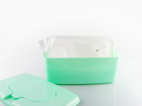 baby wipes in plastic container