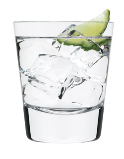 club soda with lime