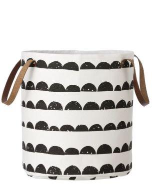Half moon storage basket